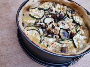 Courgettetaart geitenkaas recept